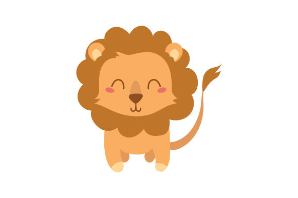 Lion (cute Kawaii Style) Animals Craft Cut File By Creative Fabrica Crafts