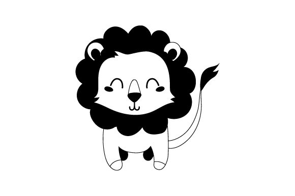 Lion (cute Kawaii Style) Animals Craft Cut File By Creative Fabrica Crafts - Image 2