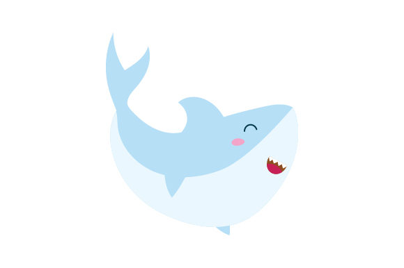 Shark (cute Kawaii Style) Animals Craft Cut File By Creative Fabrica Crafts - Image 1