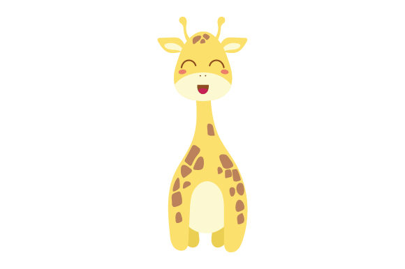 Giraffe (cute Kawaii Style) Animals Craft Cut File By Creative Fabrica Crafts