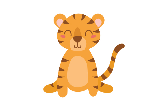 Download Free Tiger Cute Kawaii Style Svg Cut File By Creative Fabrica for Cricut Explore, Silhouette and other cutting machines.