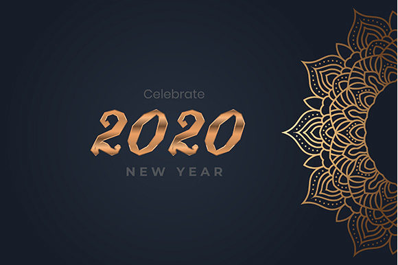 2020 with Mandala Graphic Backgrounds By apple