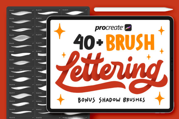 40+ Procreate Lettering Brushes Graphic Brushes By Nurmiftah