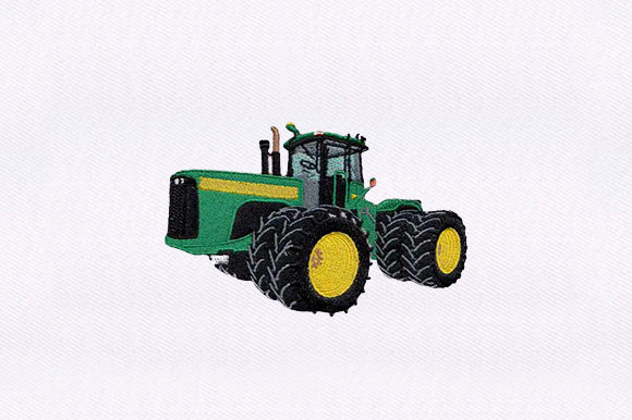 Agriculture Tractor Transportation Embroidery Design By DigitEMB