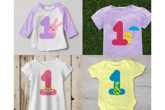 Baby's Year of Firsts Set of 16 Graphic Crafts By DesignedByGeeks - Image 2