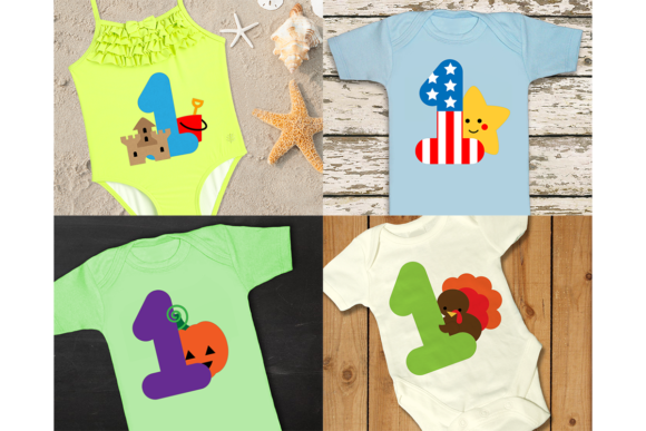 Baby's Year of Firsts Set of 16 Graphic Crafts By DesignedByGeeks - Image 3