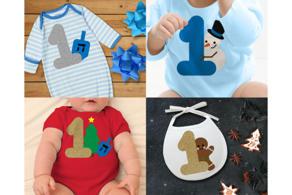 Baby's Year of Firsts Set of 16 Graphic Crafts By DesignedByGeeks - Image 4