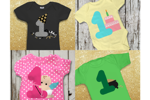 Baby's Year of Firsts Set of 16 Graphic Crafts By DesignedByGeeks - Image 5