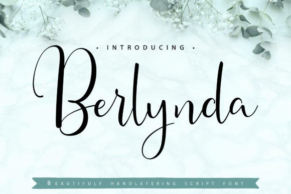 Print on Demand: Berlynda Script & Handwritten Font By Vunira