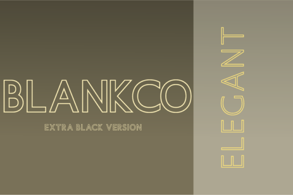 Print on Demand: Blankco Outline Extra Black Sans Serif Font By Nan Design