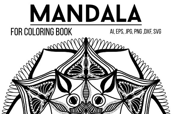 Print on Demand: Coloring Mandala 02 Graphic Coloring Pages & Books Adults By stanosh - Image 1