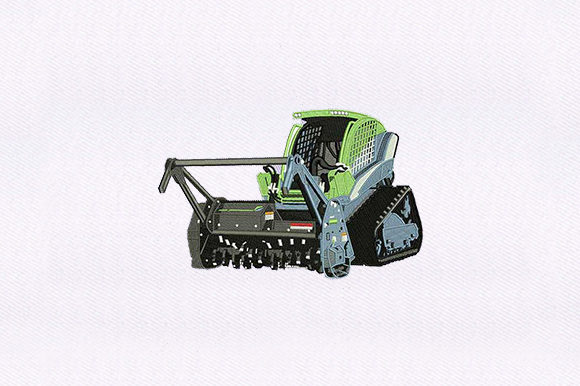 Combine Harvester Farm & Country Embroidery Design By DigitEMB