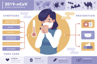 Download Free Corona Virus Infographic Graphic By Fatih Studio Creative Fabrica for Cricut Explore, Silhouette and other cutting machines.