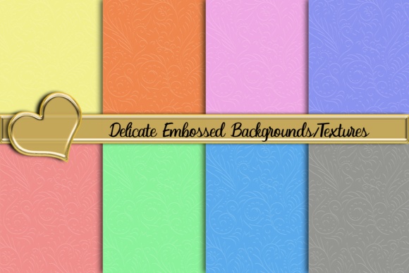 Print on Demand: Delicate Embossed Background/Textures Graphic Backgrounds By AM Digital Designs