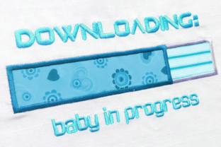 Downloading Baby Pregnancy Applique Mother Embroidery Design By DesignedByGeeks