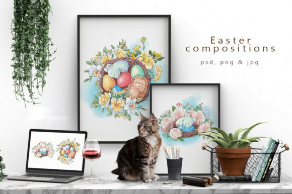 Print on Demand: Easter Graphic Illustrations By nicjulia