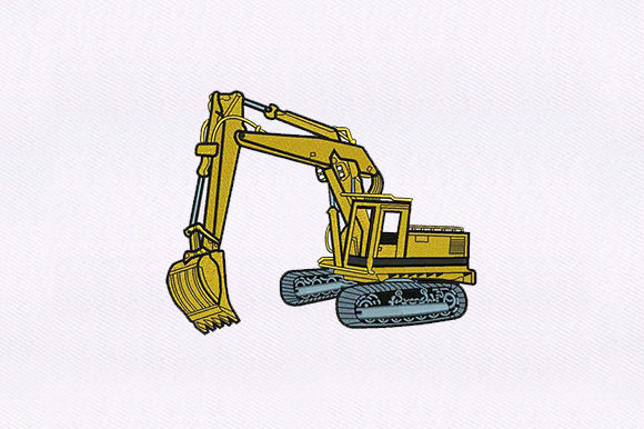 Excavator Transportation Embroidery Design By DigitEMB