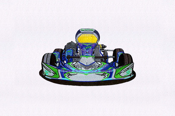 F1 Car Sports Embroidery Design By DigitEMB