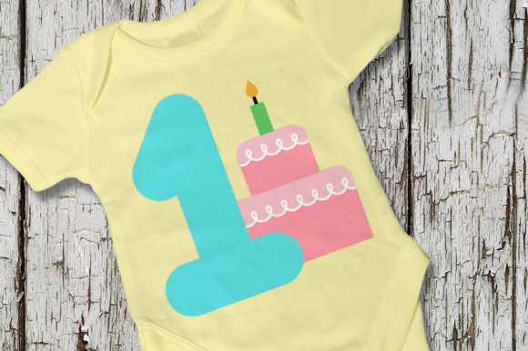Download Free First Birthday Party Cake Graphic By Designedbygeeks Creative for Cricut Explore, Silhouette and other cutting machines.
