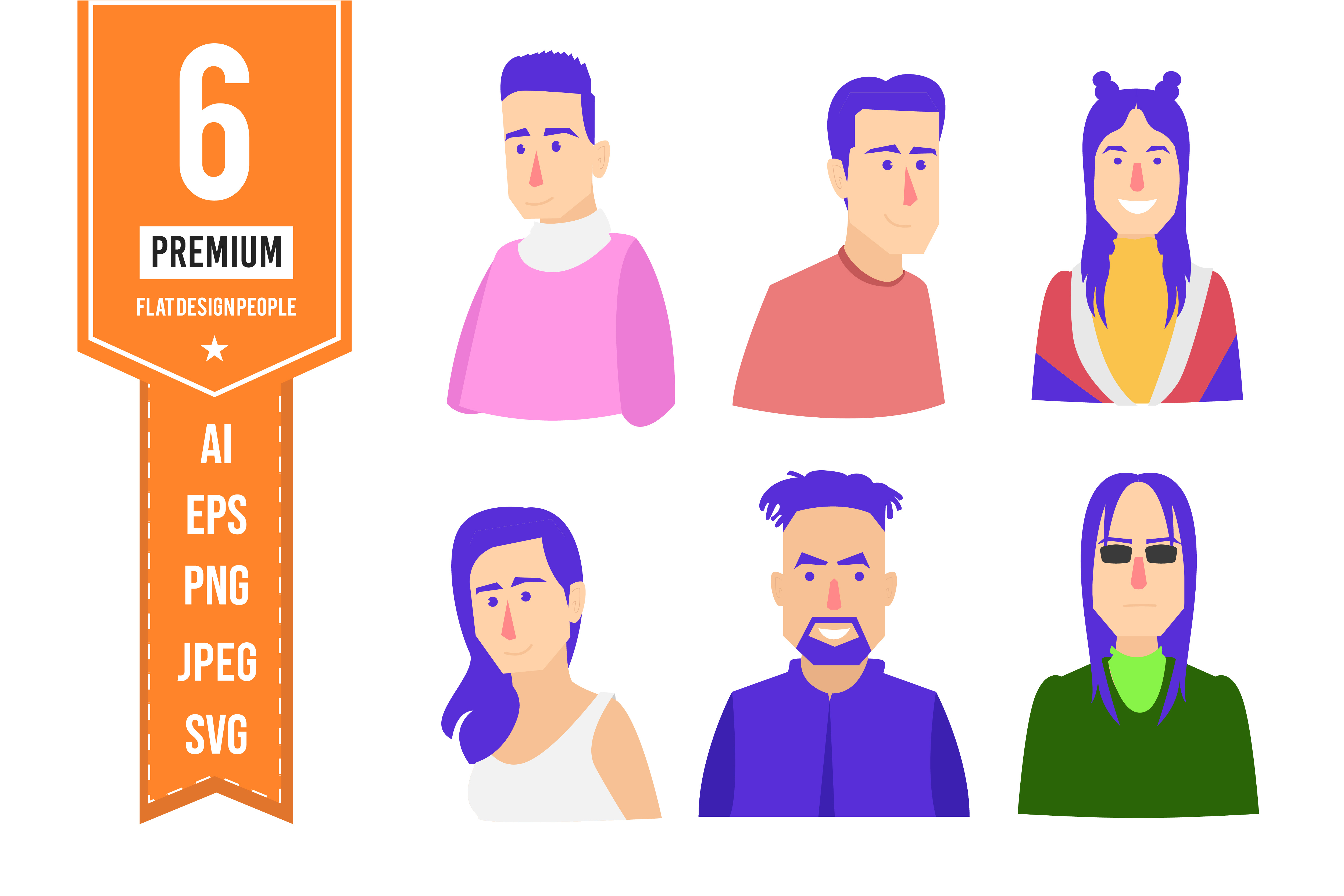 flat design avatar people vector graphic by indrabayunursa creative fabrica creative fabrica