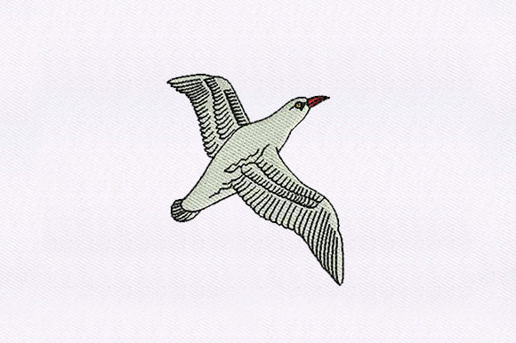 Flying Seagull Bird Birds Embroidery Design By DigitEMB