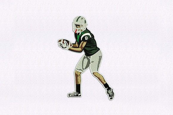 Football Player Sports Embroidery Design By DigitEMB