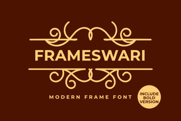 Download Free Frameswari Font By Pustudio Creative Fabrica for Cricut Explore, Silhouette and other cutting machines.