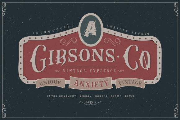 Print on Demand: Gibsons Co Display Font By lickermelody