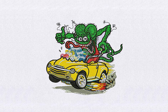 Green Monster Racing Toys & Games Embroidery Design By DigitEMB
