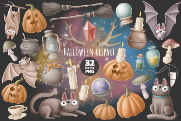 Print on Demand: Halloween Clipart Graphic Illustrations By Architekt_AT