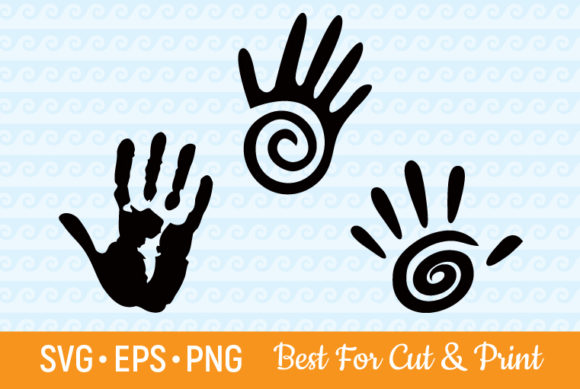 Download Free Hand Print Hands Fingers Print Graphic By Olimpdesign Creative for Cricut Explore, Silhouette and other cutting machines.