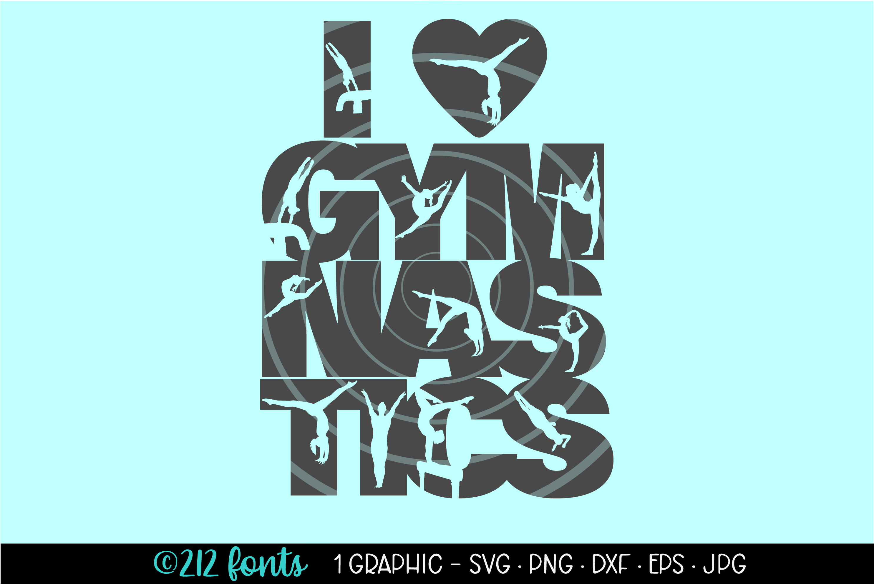 I Love Gymnastics Clip Art Graphic By 212 Fonts Creative Fabrica