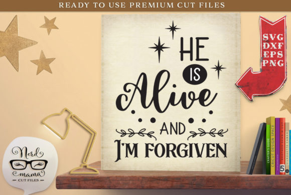 Download Free I M Forgiven Graphic By Nerd Mama Cut Files Creative Fabrica for Cricut Explore, Silhouette and other cutting machines.