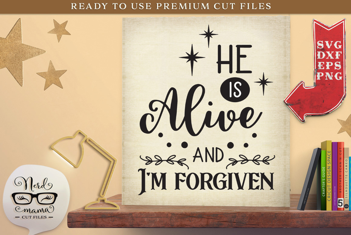 Download Free I M Forgiven Graphic By Nerd Mama Cut Files Creative Fabrica SVG Cut Files
