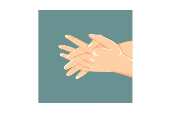 Print on Demand: Interlace Fingers of Washing Hands Step Graphic Crafts By geadesign