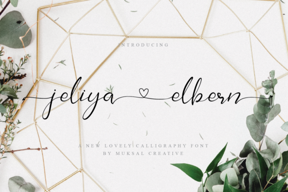 Print on Demand: Jelia Elbern Script & Handwritten Font By Muksal Creative