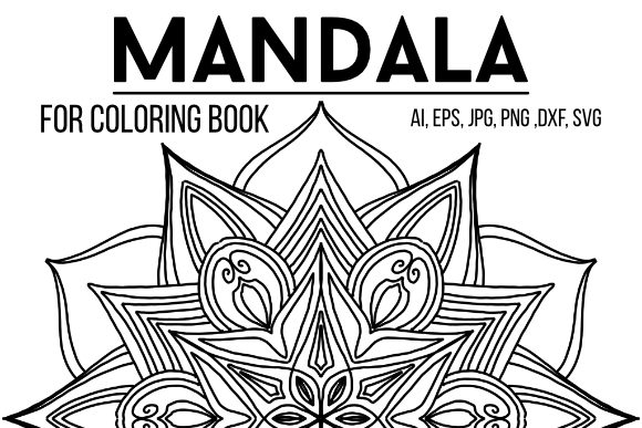 Print on Demand: Mandala Black Line 04 Graphic Coloring Pages & Books Adults By stanosh