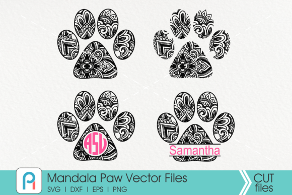 Mandala Paw Graphic Crafts By Pinoyartkreatib