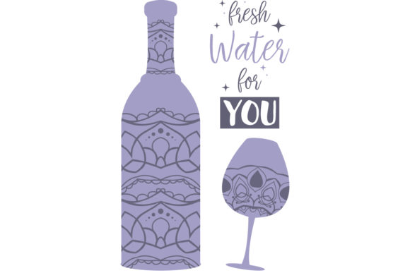 Download Free Mandala Art Design For Ornate Of Bottle Graphic By Stockfloral for Cricut Explore, Silhouette and other cutting machines.
