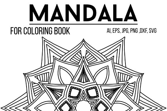 Print on Demand: Mandala Coloring Book 01 Graphic Coloring Pages & Books Adults By stanosh - Image 1