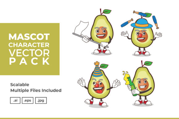 Download Free Mascot Character Vector Illustration Graphic By Dendysign SVG Cut Files