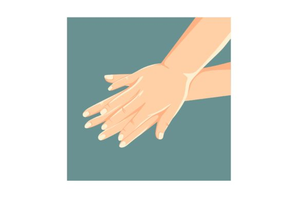 Print on Demand: Palm to Palm Hand Washing Graphic Crafts By geadesign