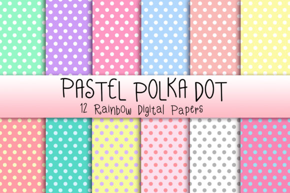 Pastel Polka Dot Background Graphic Backgrounds By PinkPearly