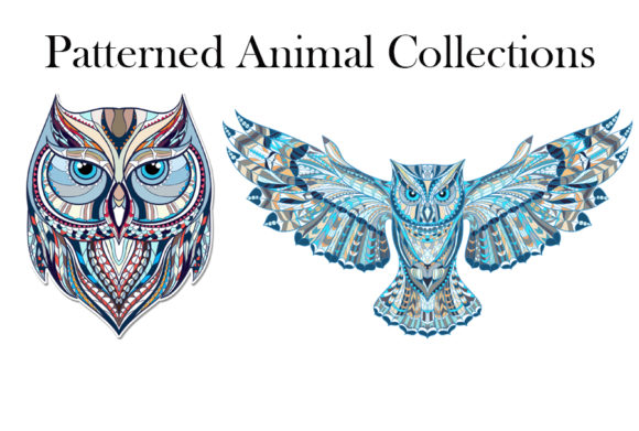 Patterned Animal Collections Graphic Illustrations By rideover6 - Image 2