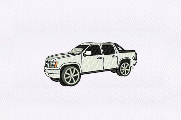 Pickup Truck Transportation Embroidery Design By DigitEMB