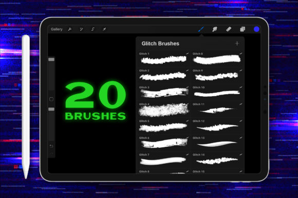 Download Free Procreate Glitch Lettering Brushes Graphic By Nurmiftah for Cricut Explore, Silhouette and other cutting machines.