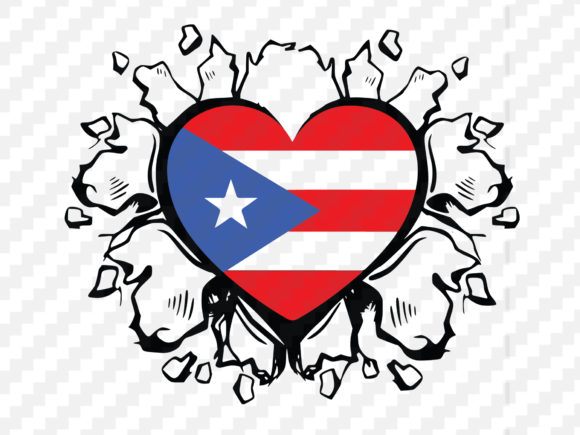 Download Free Puerto Rico Flag Graphic By Johanruartist Creative Fabrica for Cricut Explore, Silhouette and other cutting machines.