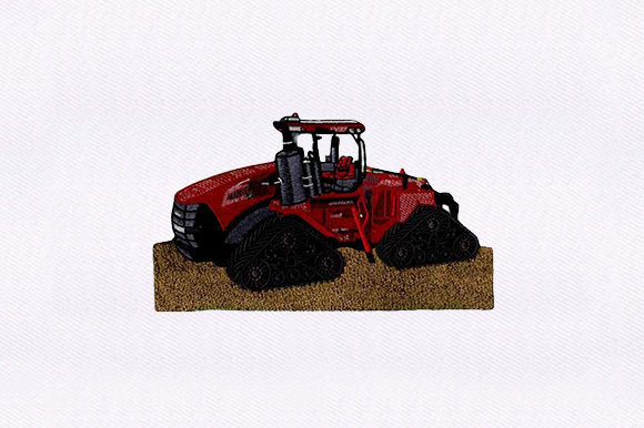 Quadtrac Tractor Farm & Country Embroidery Design By DigitEMB
