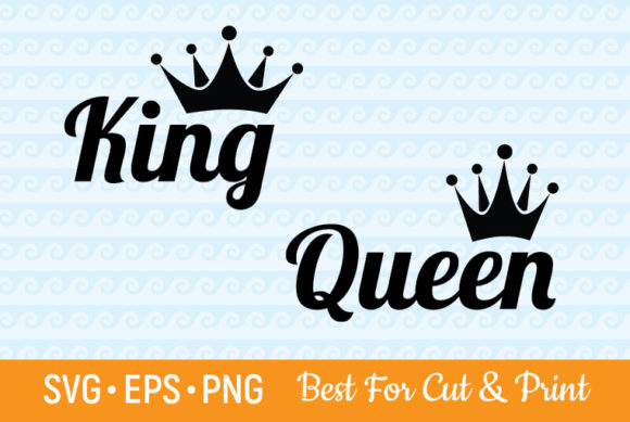 Queen And King Crown Party Royal Graphic By Olimpdesign