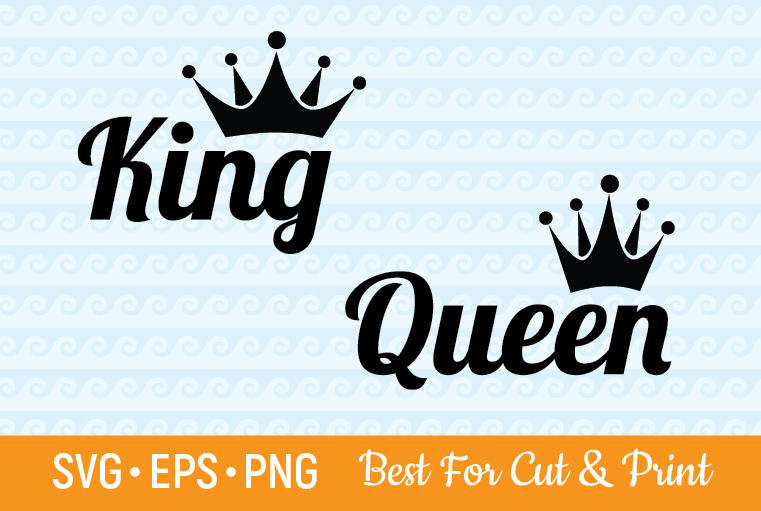Queen and King Crown Party Royal SVG File
